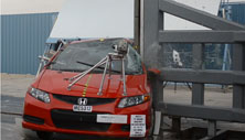 NCAP 2012 Honda Civic side pole crash test photo