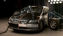 NCAP 2012 Honda Civic Hybrid side crash test photo
