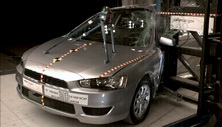NCAP 2012 Mitsubishi Lancer side pole crash test photo