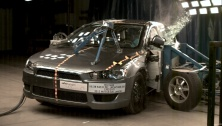 NCAP 2012 Mitsubishi Lancer side crash test photo