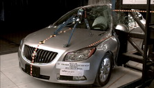 NCAP 2012 Buick Regal side pole crash test photo