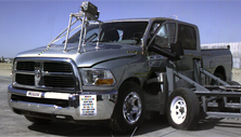 NCAP 2012 Ram 2500 side crash test photo