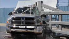 NCAP 2012 Ram 2500 side pole crash test photo
