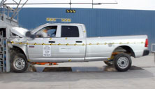 NCAP 2012 Ram 2500 front crash test photo