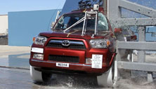 NCAP 2012 Toyota 4Runner side pole crash test photo