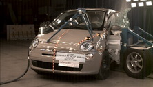 NCAP 2012 Fiat 500 side crash test photo