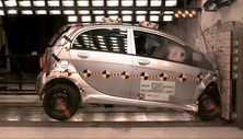 2012 Mitsubishi i-MiEV 5 HB FWD after frontal crash test