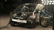 2012 Mitsubishi i-MiEV 5 HB FWD after side crash test