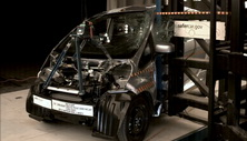 2012 Mitsubishi i-MiEV 5 HB FWD after side pole crash test