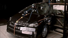 NCAP 2012 Toyota Prius side pole crash test photo