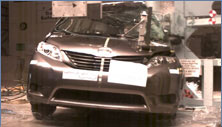 NCAP 2013 Toyota Sienna side pole crash test photo