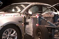 NCAP 2013 Ford Taurus side crash test photo