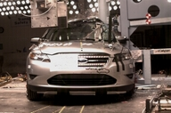 NCAP 2013 Ford Taurus side pole crash test photo