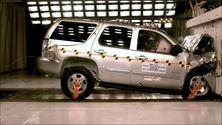 2013 Chevrolet Tahoe SUV RWD after frontal crash test