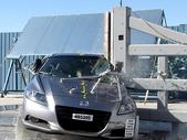 NCAP 2013 Honda CR-Z side pole crash test photo
