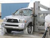 NCAP 2013 Toyota Tacoma side pole crash test photo