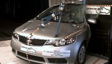 NCAP 2013 Kia Forte side pole crash test photo