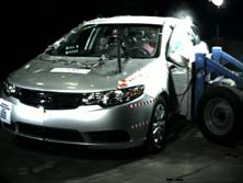 NCAP 2013 Kia Forte side crash test photo