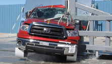 NCAP 2013 Toyota Tundra side pole crash test photo