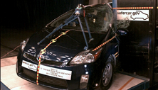 NCAP 2013 Toyota Prius side pole crash test photo