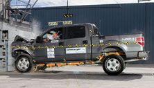 NCAP 2013 Ford F-150 front crash test photo