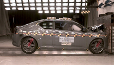 NCAP 2013 Scion tC front crash test photo