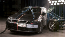 NCAP 2013 Scion tC side crash test photo