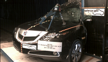 NCAP 2013 Acura ZDX side pole crash test photo