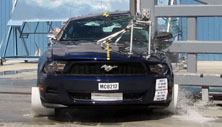 NCAP 2013 Ford Mustang side pole crash test photo