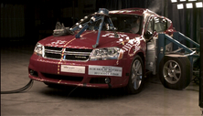NCAP 2013 Dodge Avenger side crash test photo