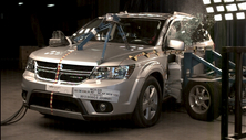 NCAP 2013 Dodge Journey side crash test photo