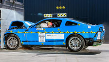 NCAP 2013 Ford Mustang front crash test photo