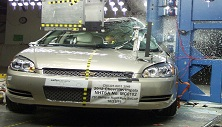 NCAP 2013 Chevrolet Impala side pole crash test photo