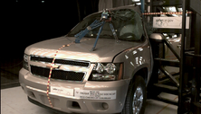 NCAP 2013 Chevrolet Suburban side pole crash test photo
