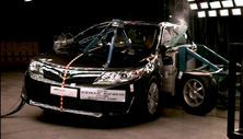 NCAP 2013 Toyota Camry side crash test photo