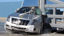 NCAP 2013 Cadillac CTS side pole crash test photo