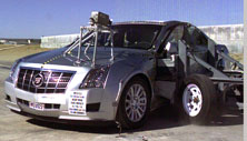 NCAP 2013 Cadillac CTS side crash test photo