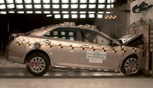 2013 Toyota Camry 4 DR FWD after frontal crash test