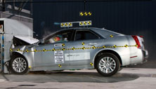 NCAP 2013 Cadillac CTS front crash test photo