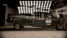 NCAP 2013 Chevrolet Silverado 2500 front crash test photo