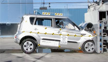 2013 Kia Soul SUV FWD after frontal crash test