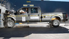 NCAP 2013 Ford F-250 front crash test photo