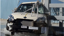 2013 Kia Soul SUV FWD after side pole crash test