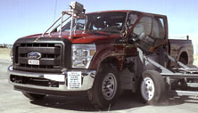 NCAP 2013 Ford F-250 side crash test photo