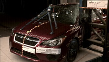 NCAP 2013 Subaru Impreza side pole crash test photo