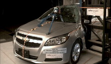 NCAP 2013 Chevrolet Malibu side pole crash test photo