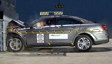 NCAP 2013 Ford Taurus front crash test photo
