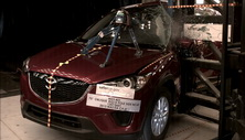 NCAP 2013 Mazda CX-5 side pole crash test photo