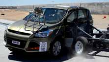 2013 Ford Escape SUV 4x4 after side crash test