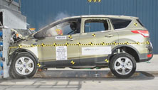 2013 Ford Escape SUV 4x2 after frontal crash test